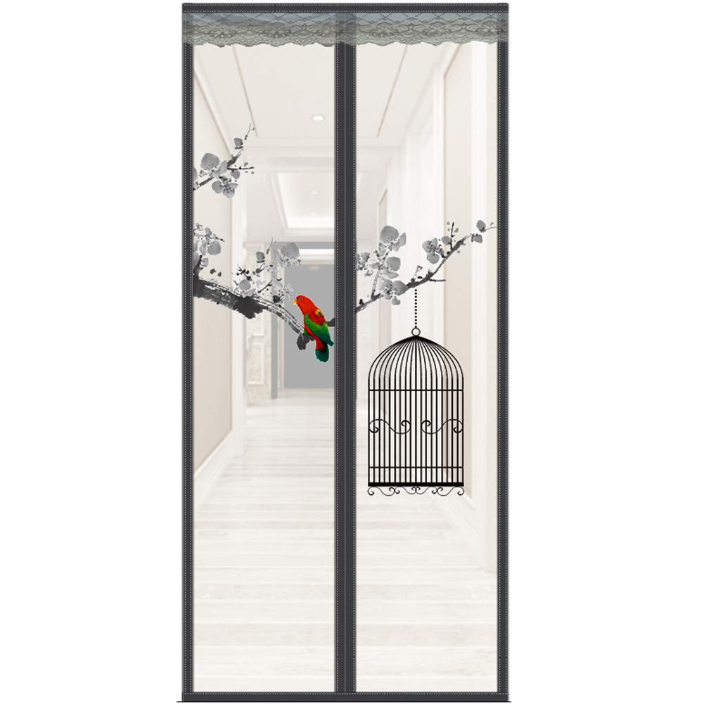 Magic Magnetic Insect Door Net Screen Bug Mosquito Fly Mesh Curtain White,Black.