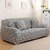 uxcell® Ring Pattern Polyester Household Elastic 3 Seats Sofa Cover Slipcover Protector 77-91 Inches