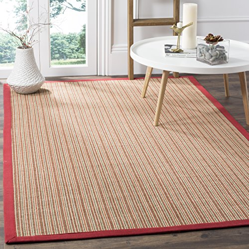 Practical Large Seagrass Area Rugs With Colored Borders