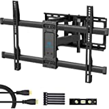 PERLESMITH Full Motion TV Wall Mount Bracket Dual Articulating Arms Bear up to 132lbs for Most 37-70 inch TV with Tilt…