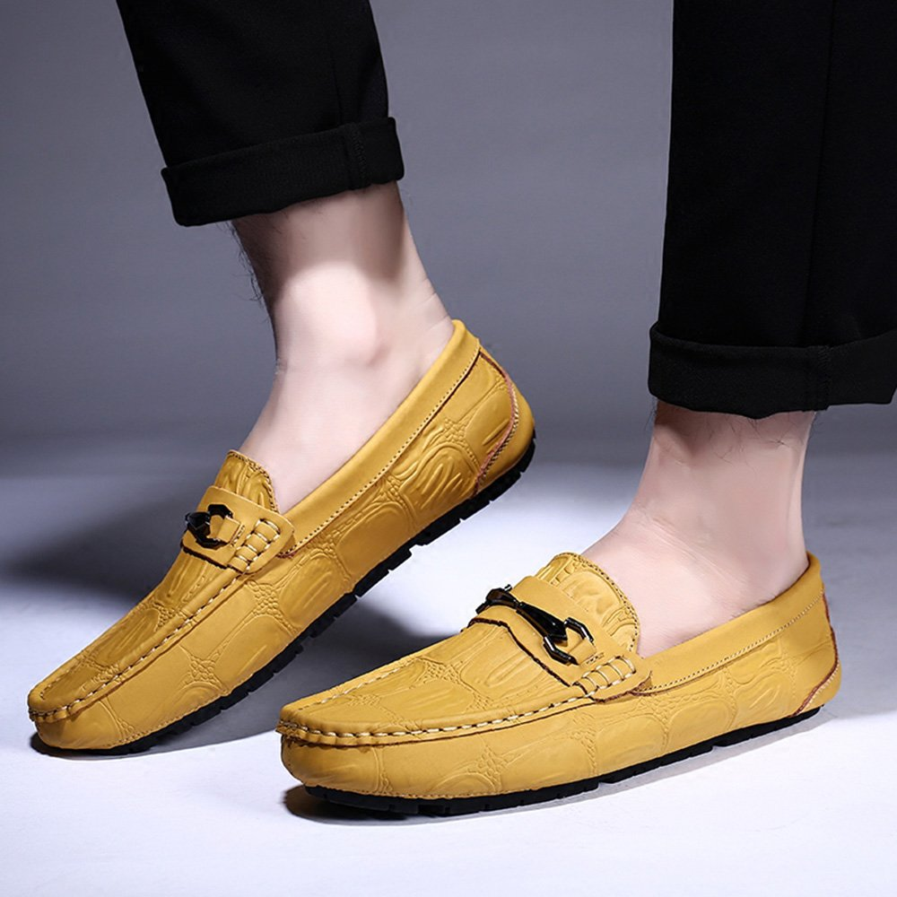 Herrenschuhe Feifei Herren Bequeme Freizeitschuhe Casual Fashion Weiche Bequeme Herren Atmungsaktive Faule Schuhe (Farbe : Gelb, Größe : EU42/UK8.5/CN43) Gelb dd11e3