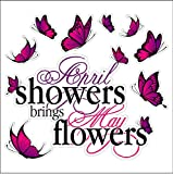 Eye Candy Signs April Showers Spring Static Cling Window ...