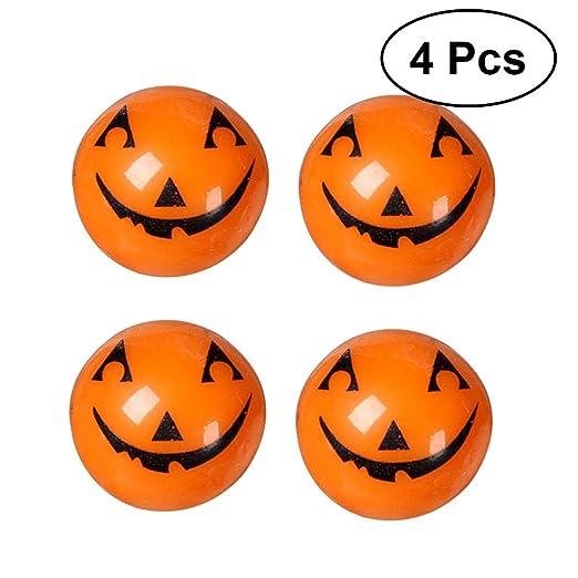halloween flashing pumpkin ring halloween props decoration children rings toys 4 pcs pumpkin style