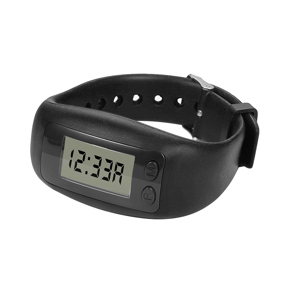 Bereezy Fitness Tracker Watch, Simply Operation Fitness Tracker Pedometer Step Counter with Calorie Counter for Walking Running Distance (Black-2) by Bereezy (Image #2)