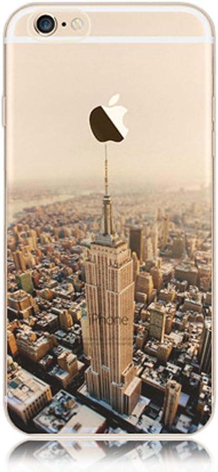 Coque iPhone 6s, Coque iPhone 6 Silicone TPU Paysage Créatif Souple Motif Landscape Etui Housse de Protection, Sunroyal® Premium Ultra Mince Case ...