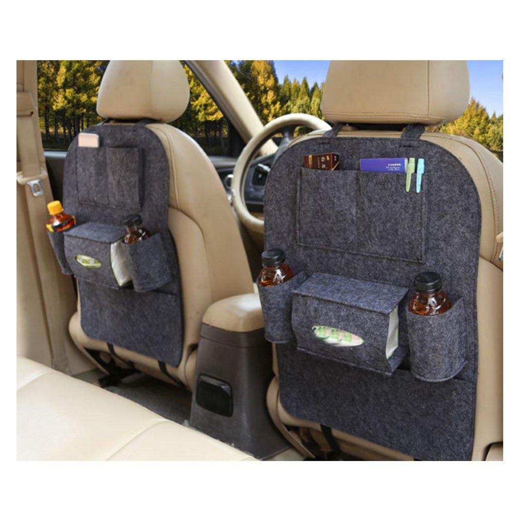CAOLATOR 2X Auto R/ückenlehnenschutz Tasche Filz Aufbewahrungstasche Autositz Gro/ße Taschen und iPad-//Tablet-Fach R/ücksitz-Organizer Pink
