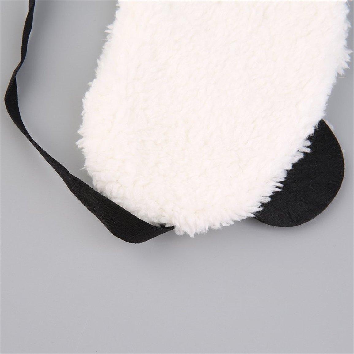Design mignon en peluche Panda Visage Voyage Des Yeux Dormir Masque Doux Pour Les Yeux Bandeau Couverture Pour Les Yeux Endormis Portable couleur: Blanc Et Noir-Amour