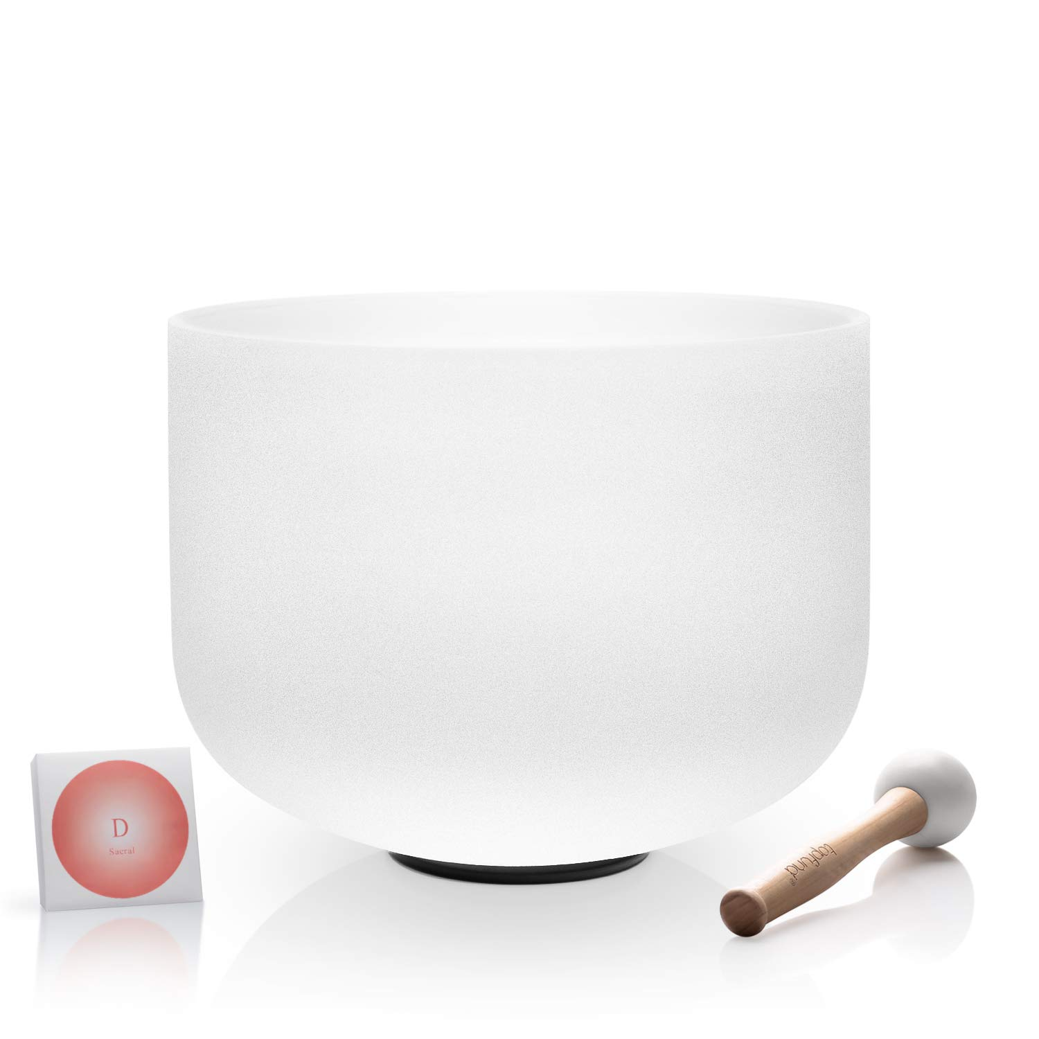 TOPFUND Crystal Singing Bowl 432Hz D Note Sacral Chakra 12 inch (O Ring and Mallet Included)