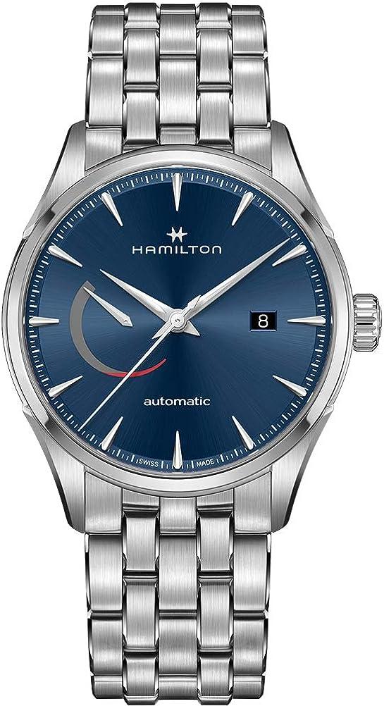 Hamilton H32635141 Jazzmaster Power - Reloj automático para hombre con esfera azul