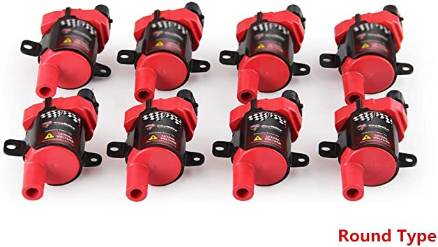 8 Square Ignition Coils Chevrolet GM LS 4.8 5.3 6.0 Chevy GMC Cadillac
