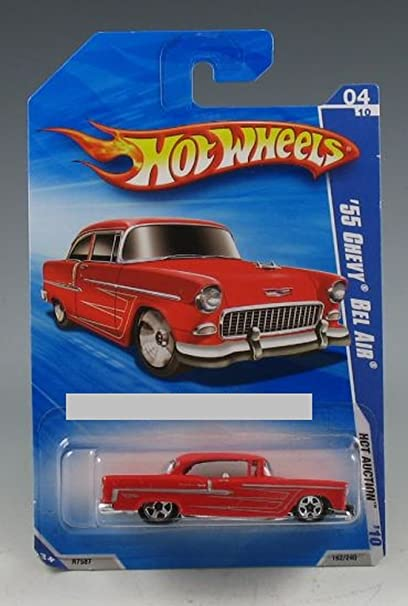 Amazon 2010 Hot Wheels Hot Auction 04 Of 10 Red 55 Chevy Bel