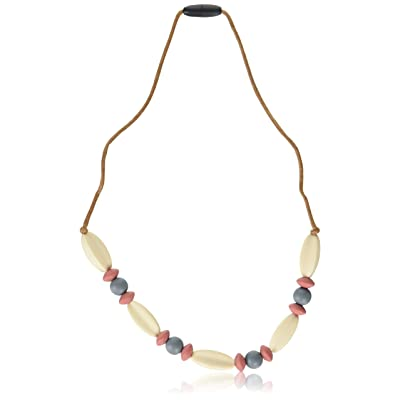 Gumeez Naturalist Teething Necklace, Red Clay, Gray, Sand, One Size : Baby