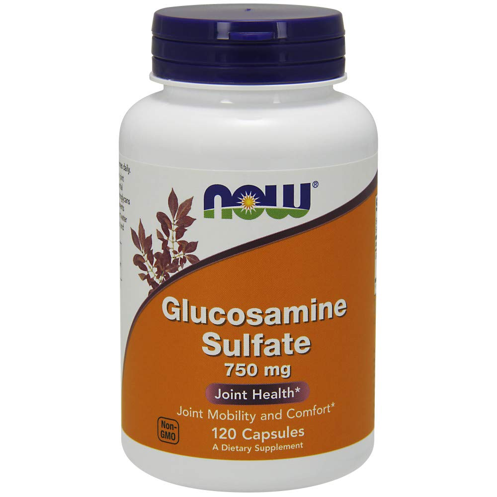 Now Supplements, Glucosamine Sulfate 750 mg, with UL Dietary Supplement Certification, 120 Count by NOW Foods