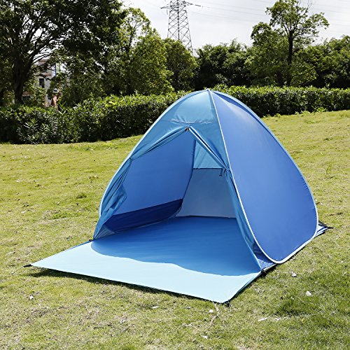 Korie 190T Polyester Pop Up Tent 90% UV Protection Sun Shelter Single Camping Beach Climbing Tent