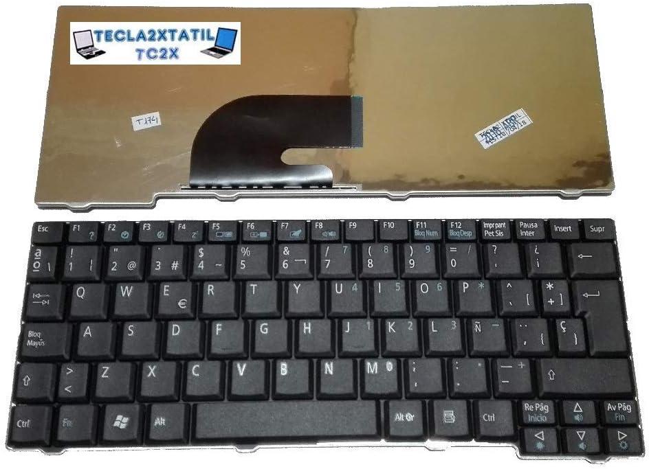 Teclado Compatible DE Y para PORTATIL Acer Aspire One D150-1B EN ESPAÑOL Nuevo Negro Ver Foto