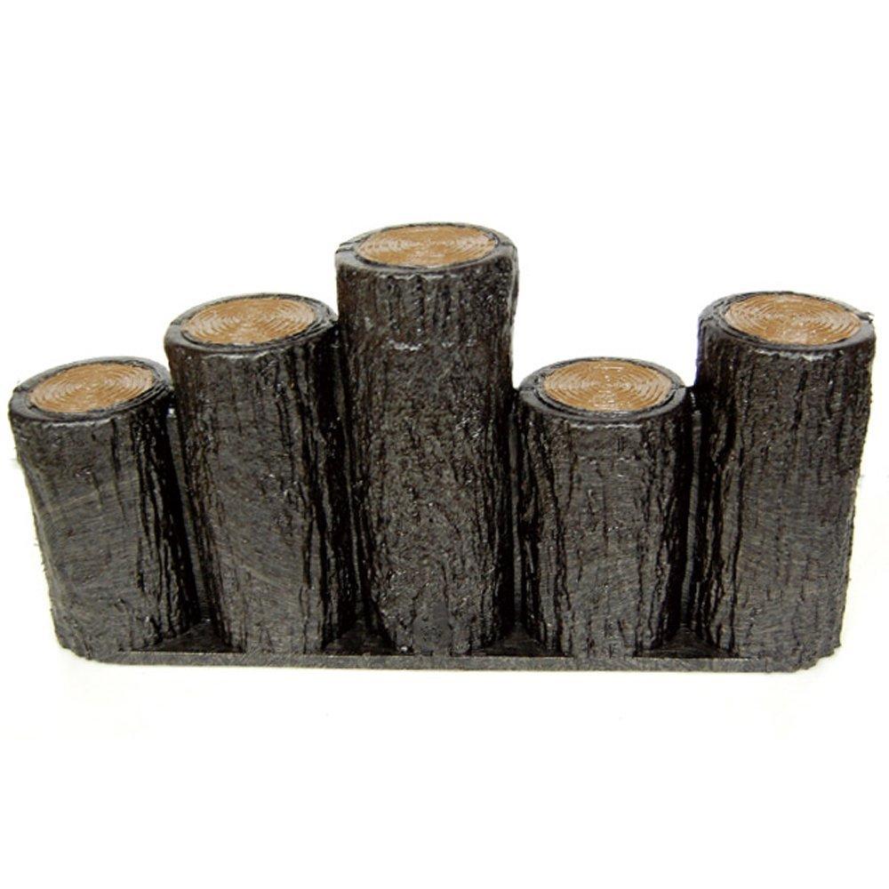 サンポリ 樹脂製擬木はなえ80φ 5連段違い杭タイプ H200 (10本セット) B00VA69OK0 17100 10本セット  10本セット