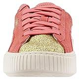PUMA Kids' Suede Platform Glam Sneaker, puma team