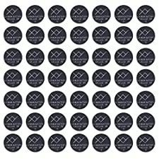 CR2032 Battery (50 Pack) | 220mAh 3 Volt (3V) Lithium Button Cell Coin Battery | Watch Batteries for Key Fobs, Garage Door Opener, TV Remote, Motherboard, Bluetooth Finders and More | Bulk 50 Count