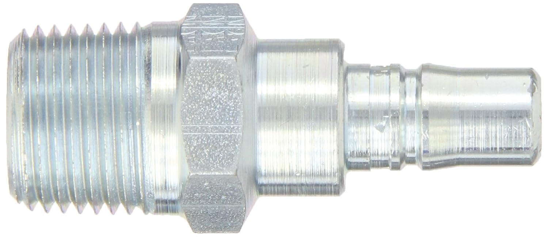 Plug 1//4 Body 1//2-14 NPTF Male 1//2 Port Size Eaton Hansen 2L25 Steel Ring Lock Quick Connect Pneumatic Fitting