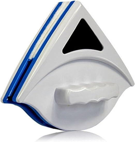HerZii Nettoyeur pour Fenêtre en Verre Double Face Magnétique Brosse de Verre Nettoyage de Vitre pour Aquarium Porte fenêtre (Bleu)