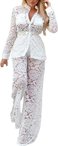 Ropa Casual Mujer Verano Encaje Chandal Pantalon + Elegante ...