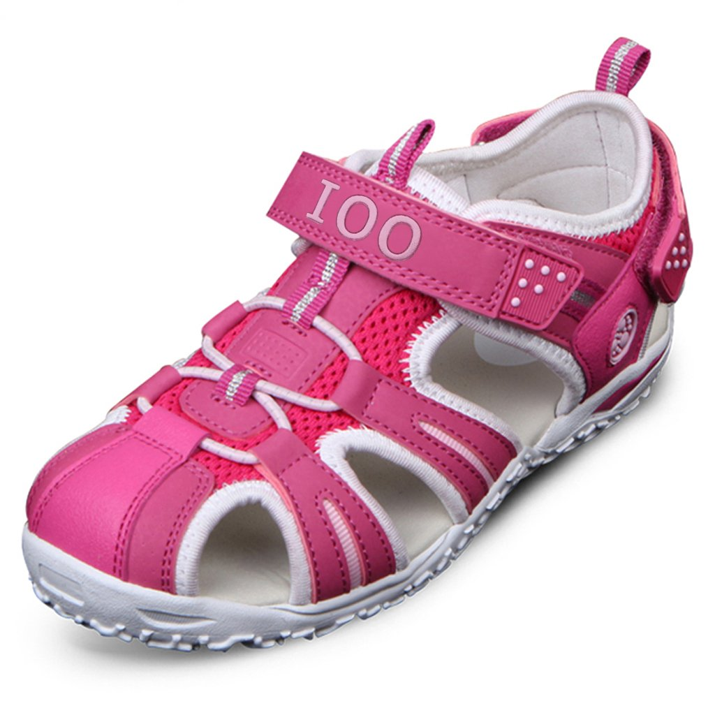 IOO Summer Beach Outdoor Closed-Toe Sandals for Boys and Girls Toddler//Little Kid//Big Kid
