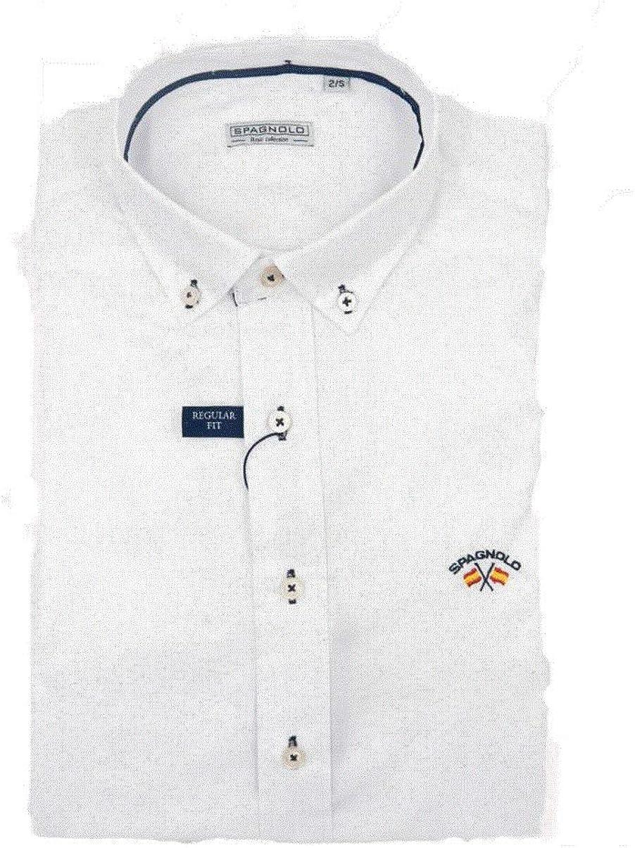 SPAGNOLO PAUL & ESTHER Camisa Cuello Boton Basica Gabardina 0068 (6/XXL): Amazon.es: Ropa y accesorios