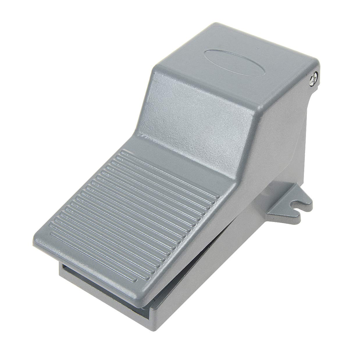 YXQ 2 Position 5 Way Foot Pedal Momentary Pneumatic Valve Control w Protective Cover and Lock Silver Tone Air Switch