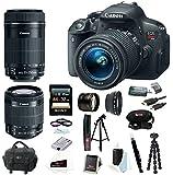 Canon EOS Rebel T5i 18.0 MP CMOS Digital Camera with EF-S 18-55mm f/3.5-5.6 IS STM Zoom Lens and EF-S 55-250mm f/4.0-5.6 IS Telephoto Zoom Lens plus 32GB Deluxe Accessory Bundle
