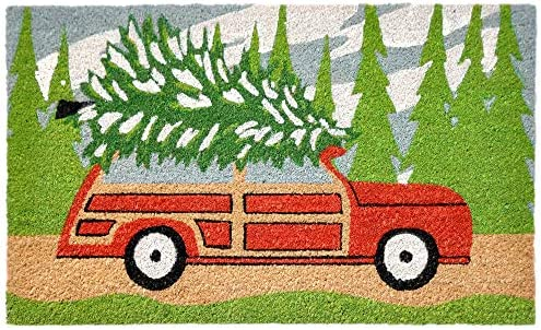 Liora Manne Natura Tree Trip Green Outdoor Welcome Coir Door Mat, 1 6 x 2 6