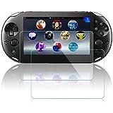AFUNTA Protector de Pantalla para Sony Playstation Vita 2000, 2 Piezas Accesorio de película de Vidrio Templado antiarañazos para PS Vita PSV 2000