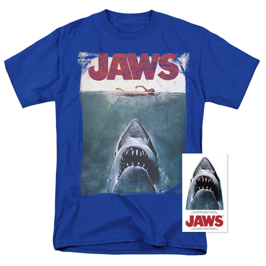 fff98ed539c2 Jaws Shark Original Movie Poster T Shirt & Stickers: Amazon.ca: Clothing &  Accessories