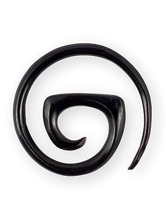 Dehnungsspirale Horn Knochen spirale piercing expander schnecke dehnungssichel