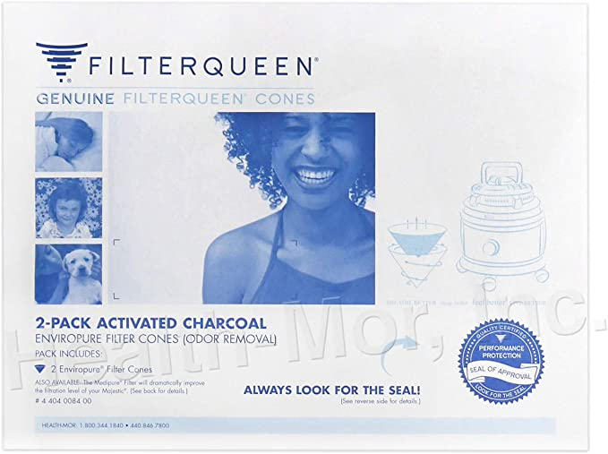 Filter Queen Enviropure Conos de filtro de carbón activado, 2 unidades: Amazon.es: Hogar