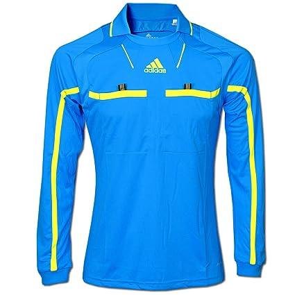 adidas - Camiseta (manga larga), color azul y amarillo fluorescente azul azul Talla