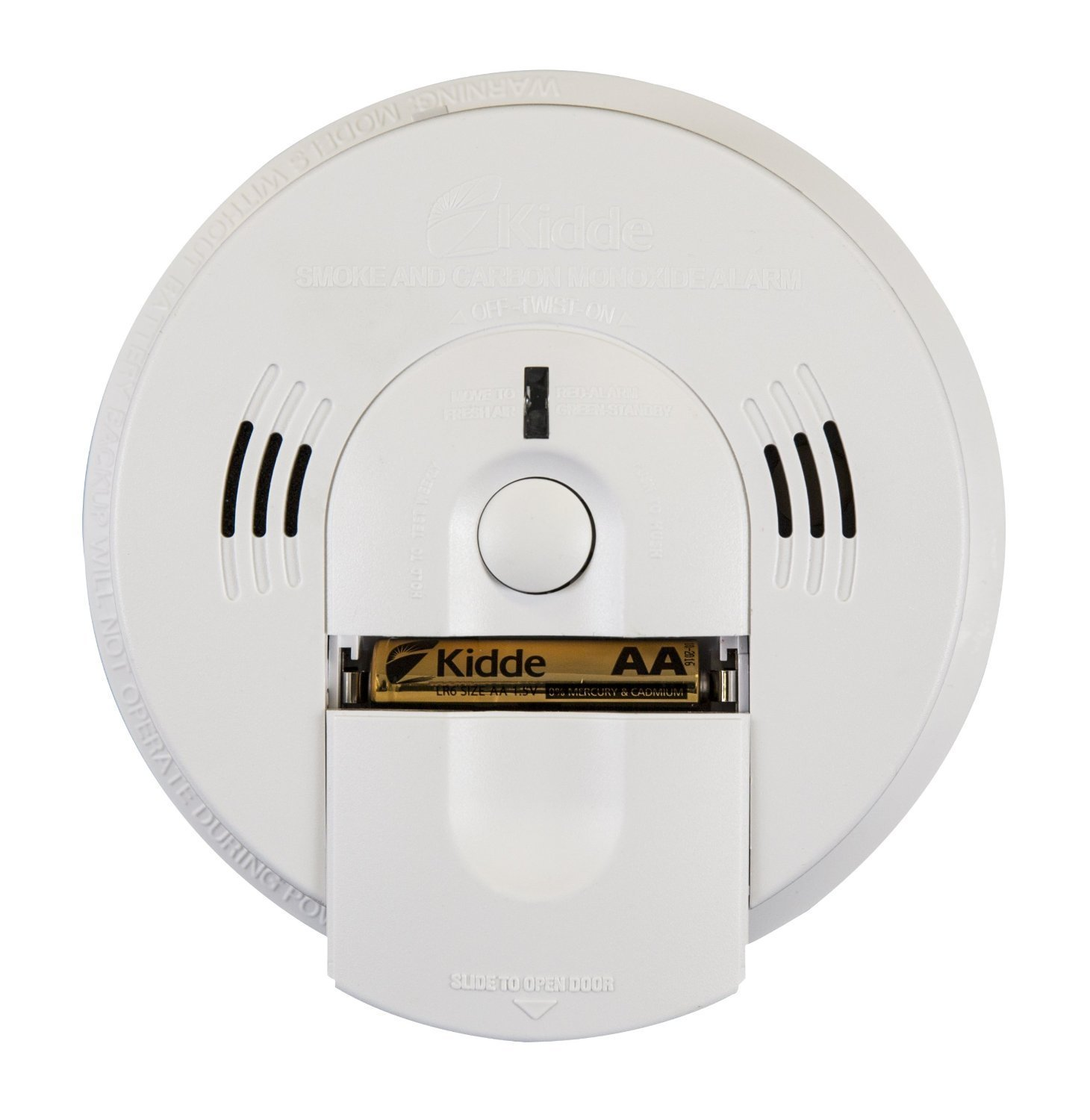 4 Pack of Kidde KN-COSM-BA Battery-Operated Combination Carbon Monoxide and Smoke Alarm with Talking Alarm