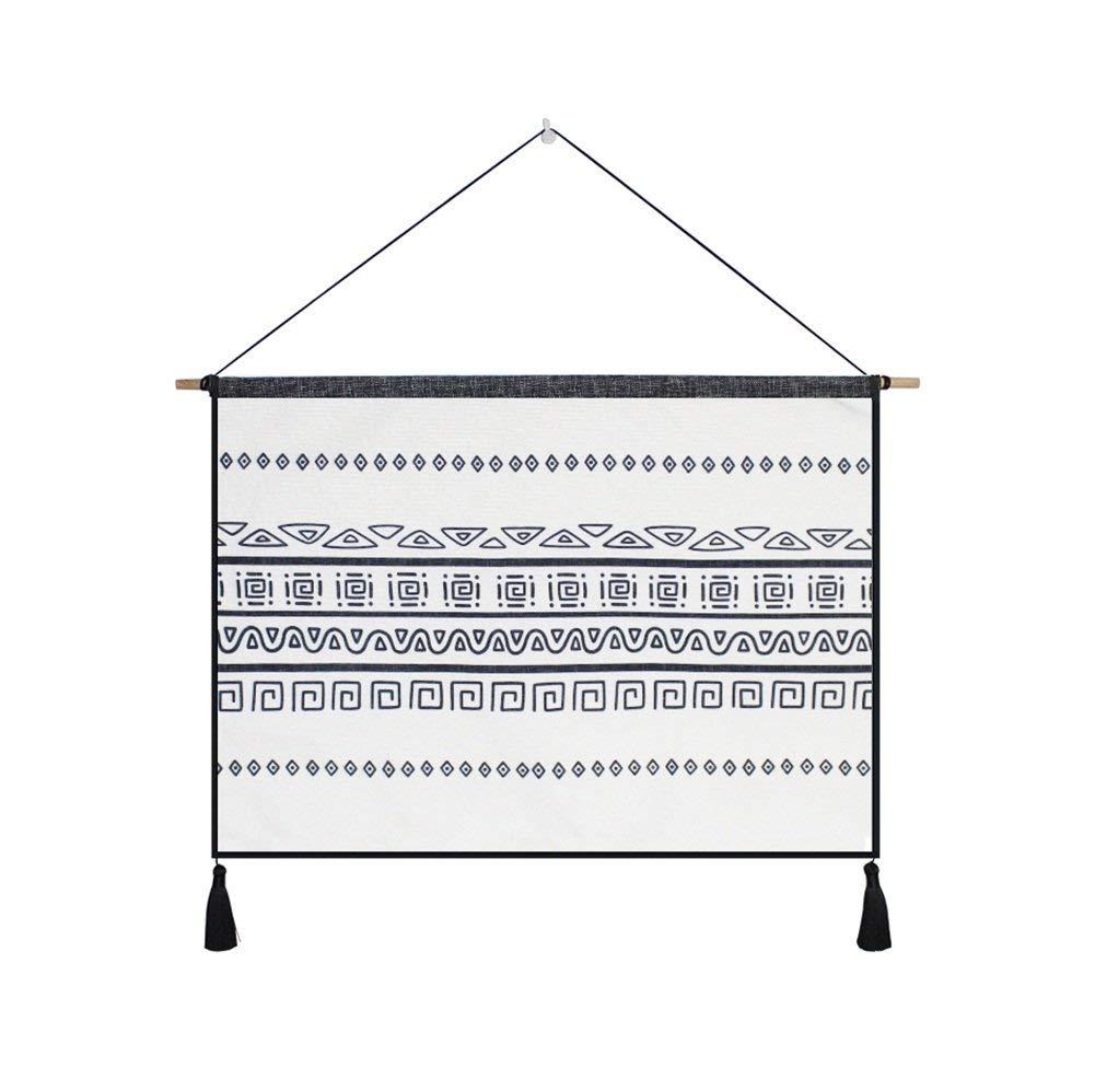壁掛けタペストリー タペストリーキット壁掛けシンプルな北欧スタイルクリエイティブ白黒パターンシリーズぶら下げカーテン家の装飾寝室用リビングルームバルコニーソファーの背景(色:A) 寝室用タペストリー (色 : A)  A B07PSBBMLW