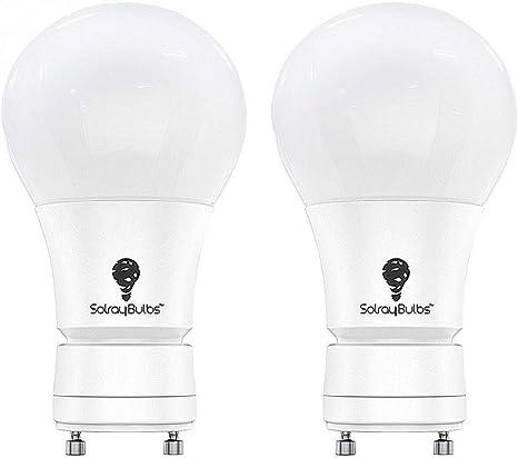 9W 2 Bulbs 60W Equivalent Dimmable,A19 LED,Daylight 5000K,GU24 Base Bulb