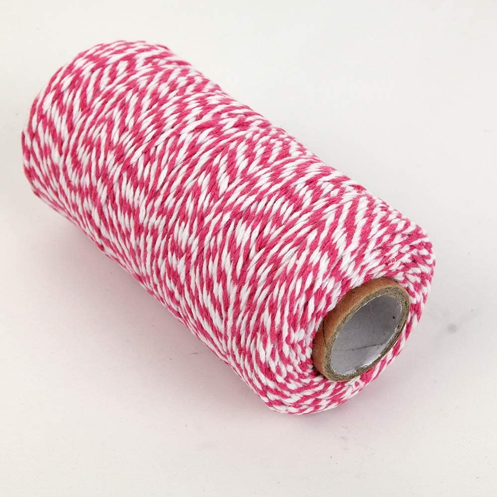NewTrend 328 Feet Cotton Twine for DIY Craft Packing Purple Decoration and Gardening,3Ply Durable String and Eco-Friendly