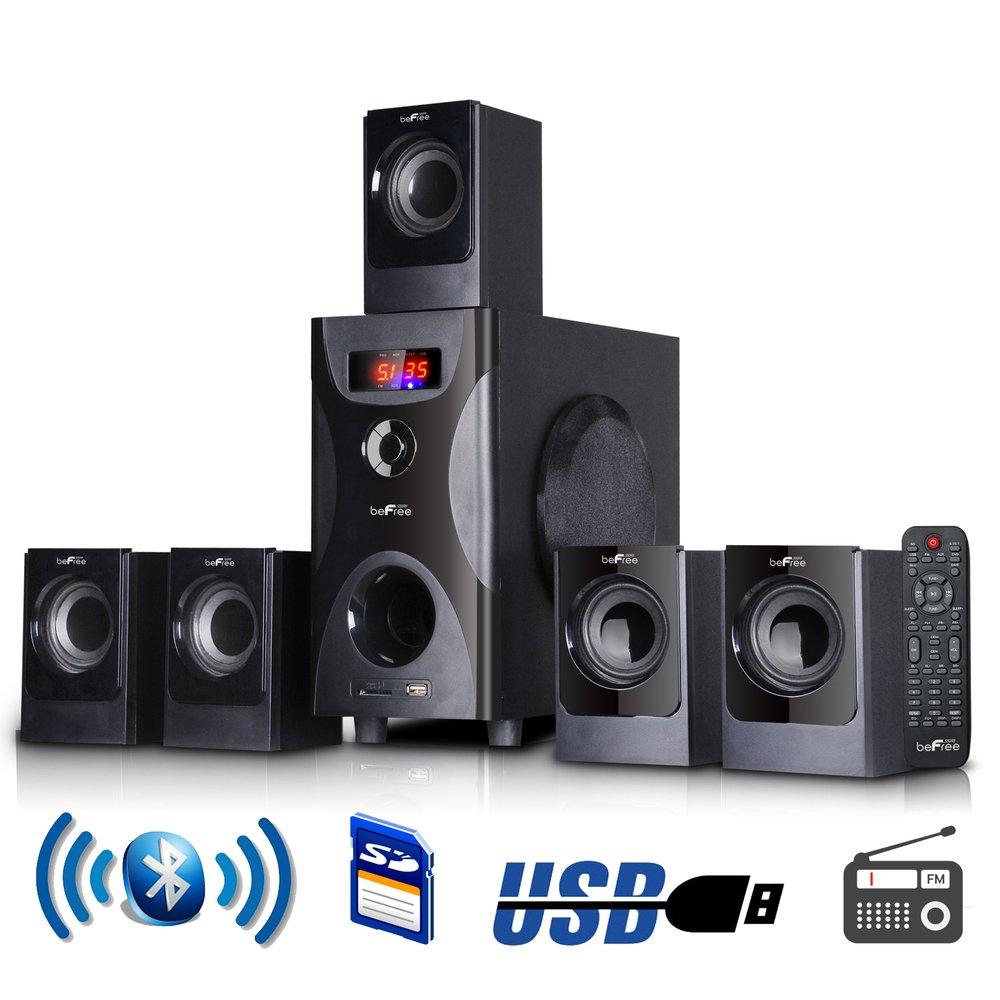 BeFreeサウンド5.1チャンネルサラウンドサウンドBluetoothスピーカーシステムでブラック B01M0CLSZP