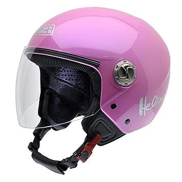 NZI 050203G203 Helix IV Metal Casco de Moto, Color Rosa, Talla 57 (M