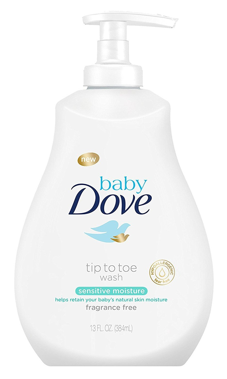Dove Baby Tip To Toe Wash 13 Ounce Sensitive Pump (384ml) (2 Pack) by Dove