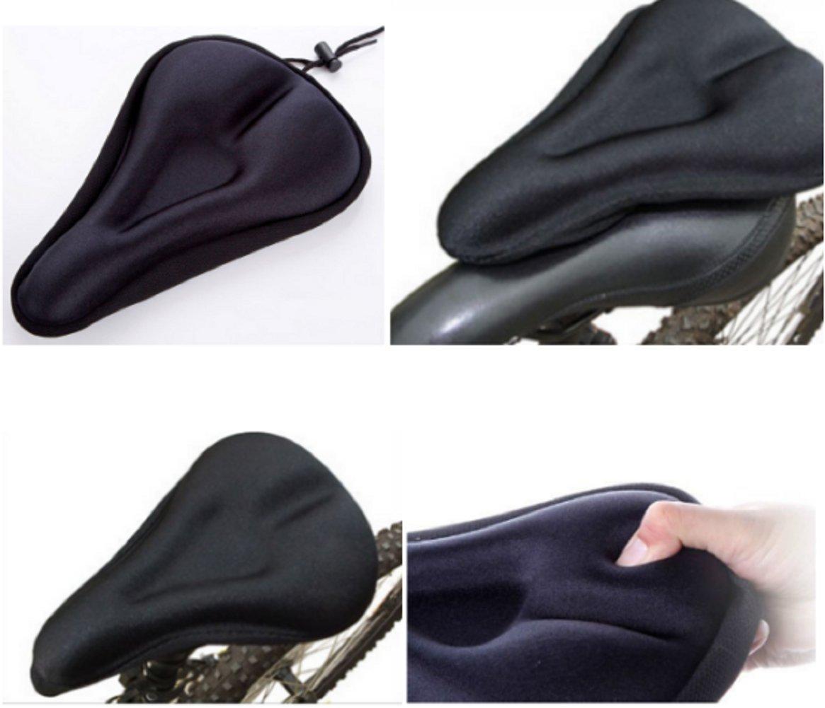 Beauty DIY Mart Funda Sillín Bicicleta, Cubierta para Sillín de Bici MTB Impermeable Unisex Color Negro