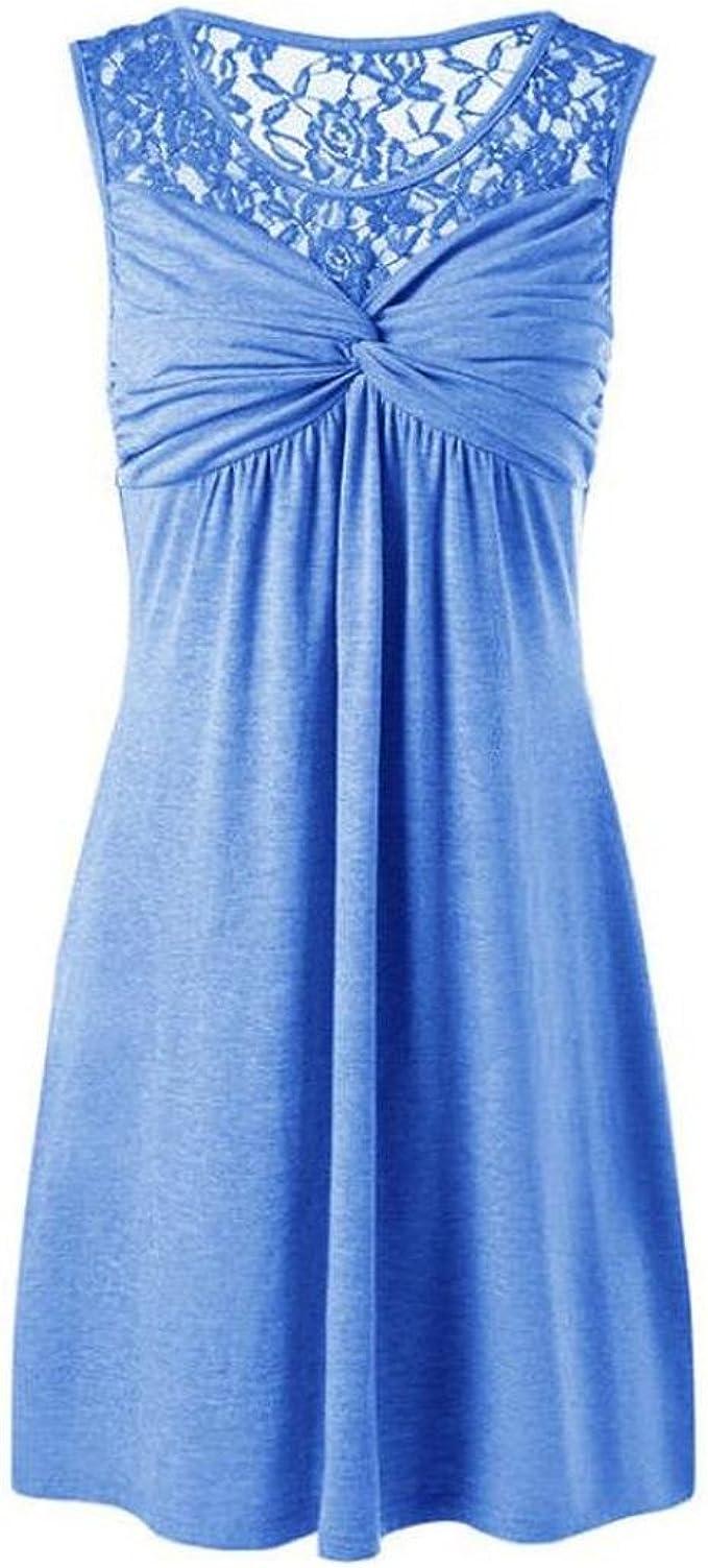 Minikleid Partykleid Longtop ärmellos Top mit Kette grau blau weinrot Gr 36