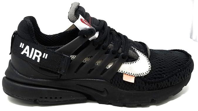 Nike Air Presto x Off White - Black/White-Cone Trainer: Amazon.es: Zapatos y complementos