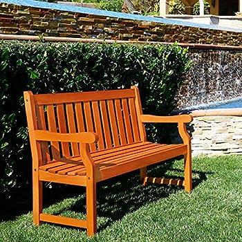 Amazon Com Henley 2 Seater Eucalyptus Wood Outdoor