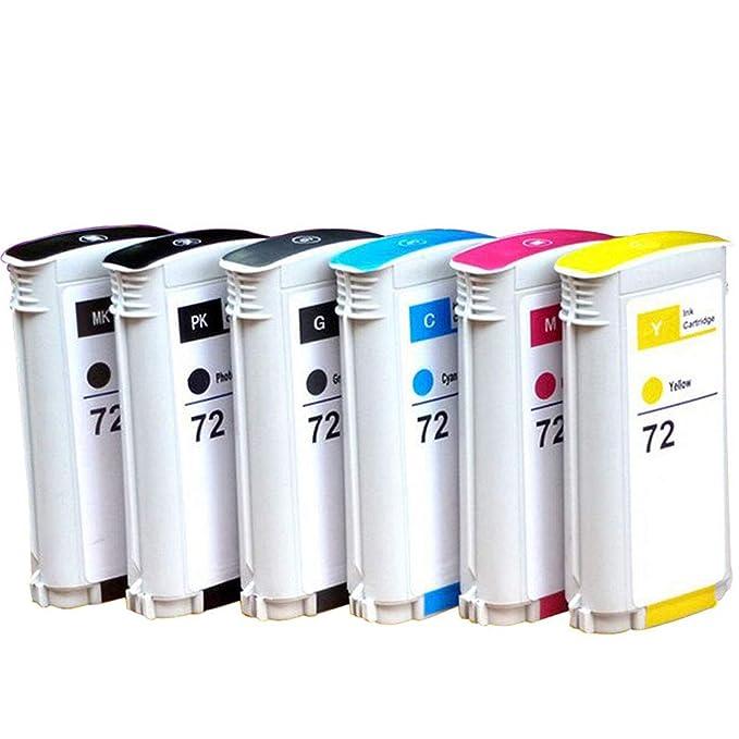Cartucho plotter T1300, compatible con C9370A C9371A C9372A C9373A C9374A C9403A Cartucho de tinta para HP 72 T1100 MFP T1100ps Cartucho de tinta, color 72PB size: Amazon.es: Oficina y papelería