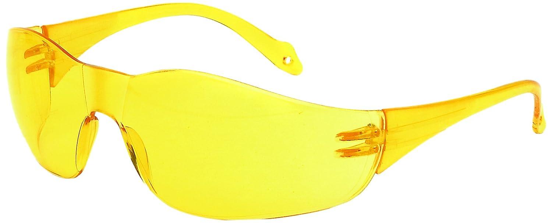 Galeton 9200684 Spirit One-Piece Wraparound Anti-Scratch Lens Safety Glasses Amber