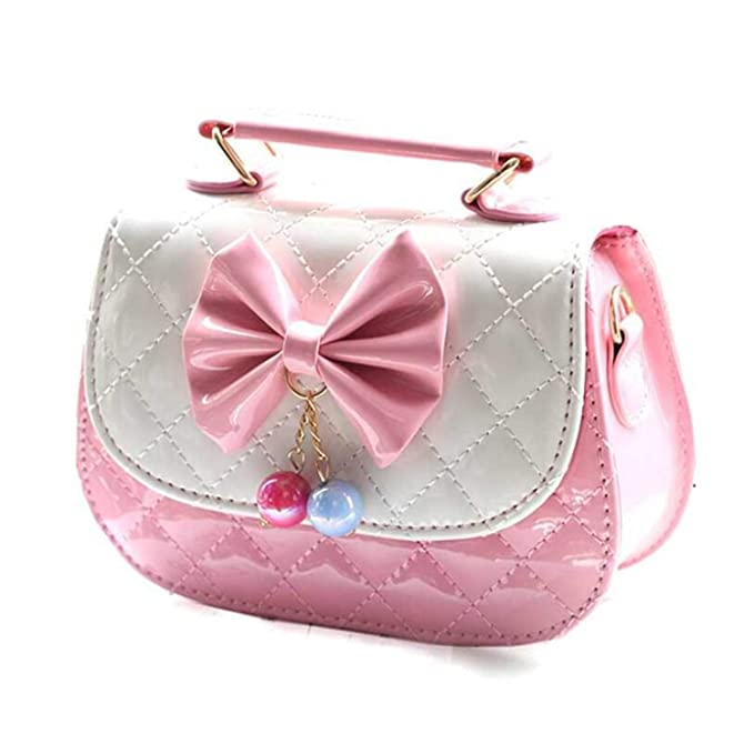 06cd2a36a7c Children's Bag Princess Crossbody Fashion Cute Girls Bags Little Girl Bow  Handbags Tide: Amazon.ca: Clothing & Accessories