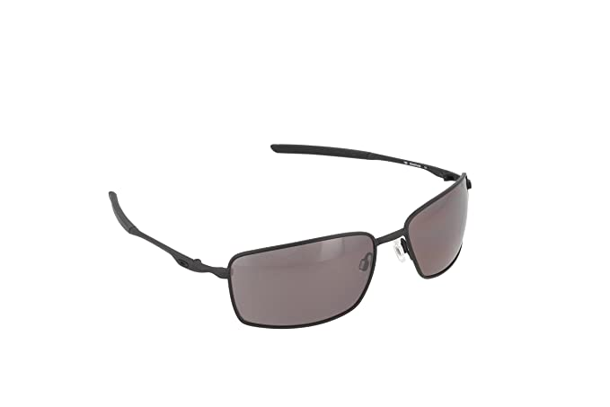4caf8ddfdcd Oakley Men s Square Wire OO4075-09 Polarized Rectangular Sunglasses ...
